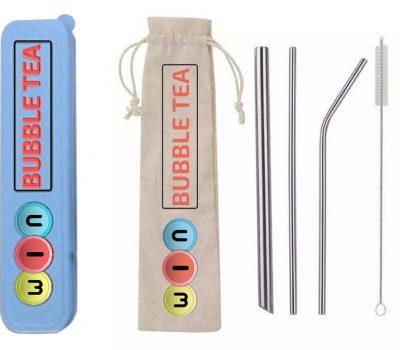 Blue Reusable Straws