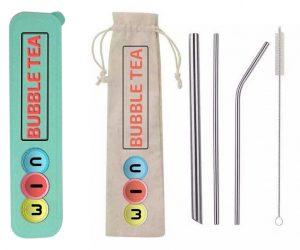 Green Reusable Straws